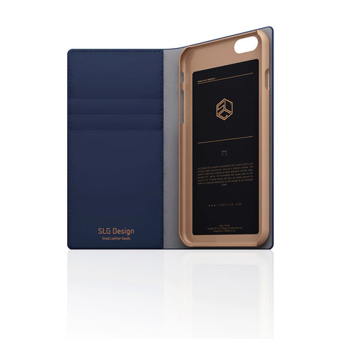 D5 Calf Skin Leather Case for iPhone 6 / 6s Navy