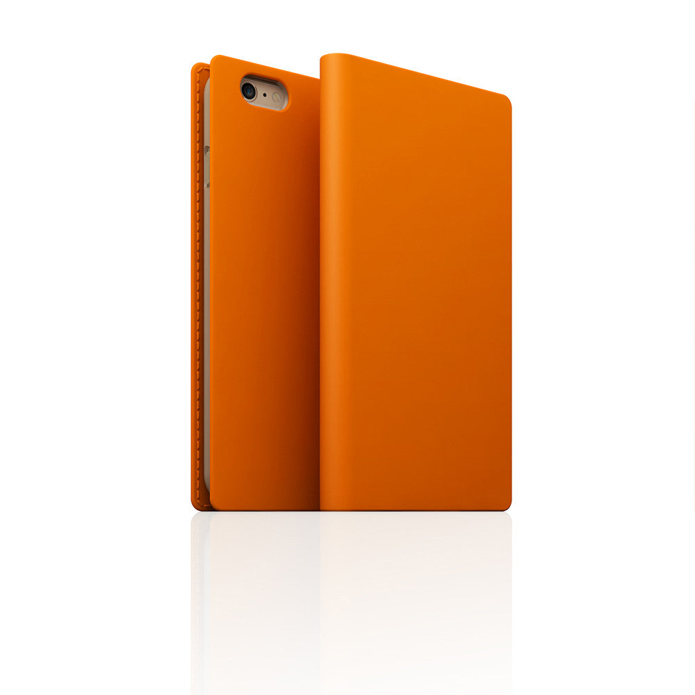D5 Calf Skin Leather Case for iPhone 6/6s Orange