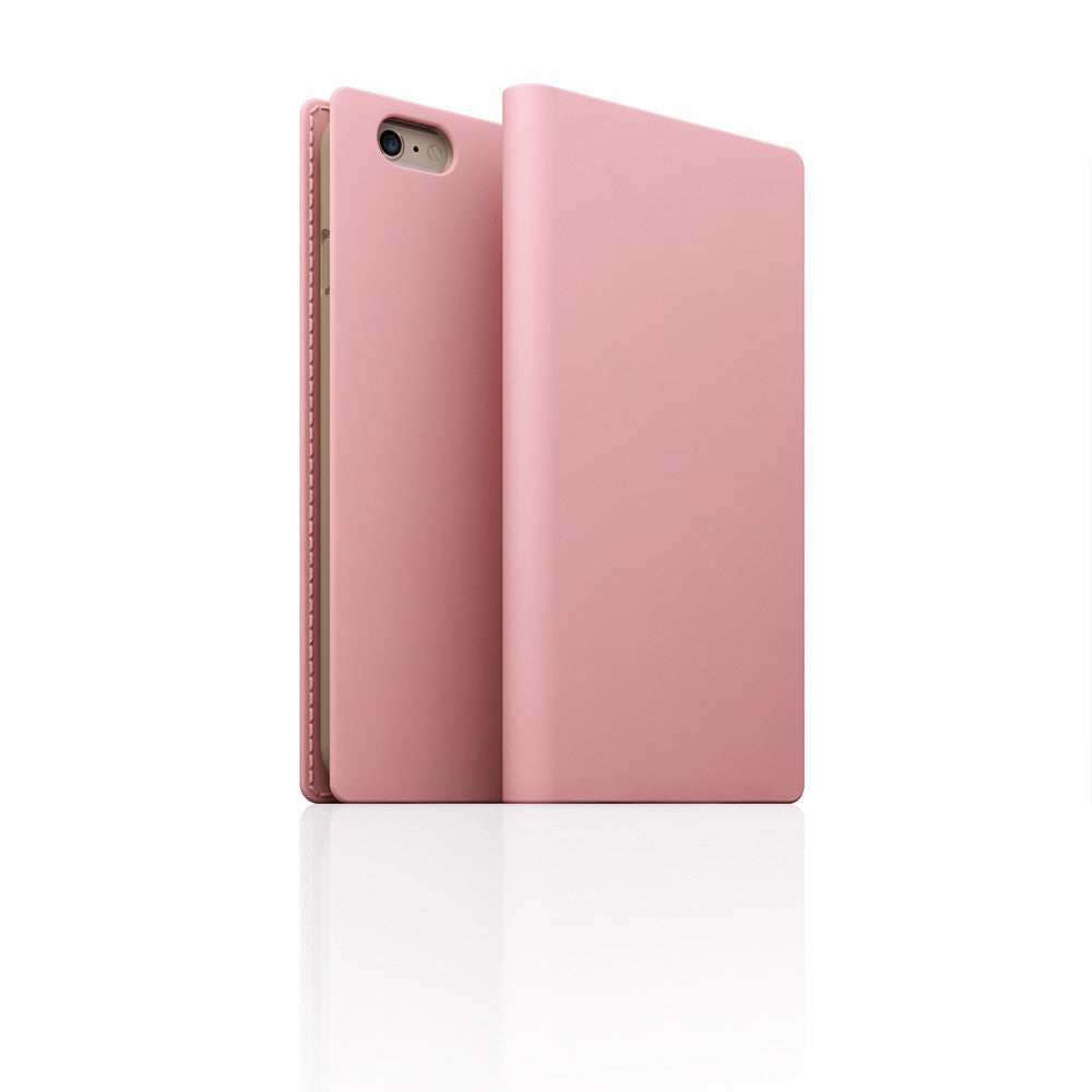D5 Calf Skin Leather Case for iPhone 6/6s Plus Baby Pink