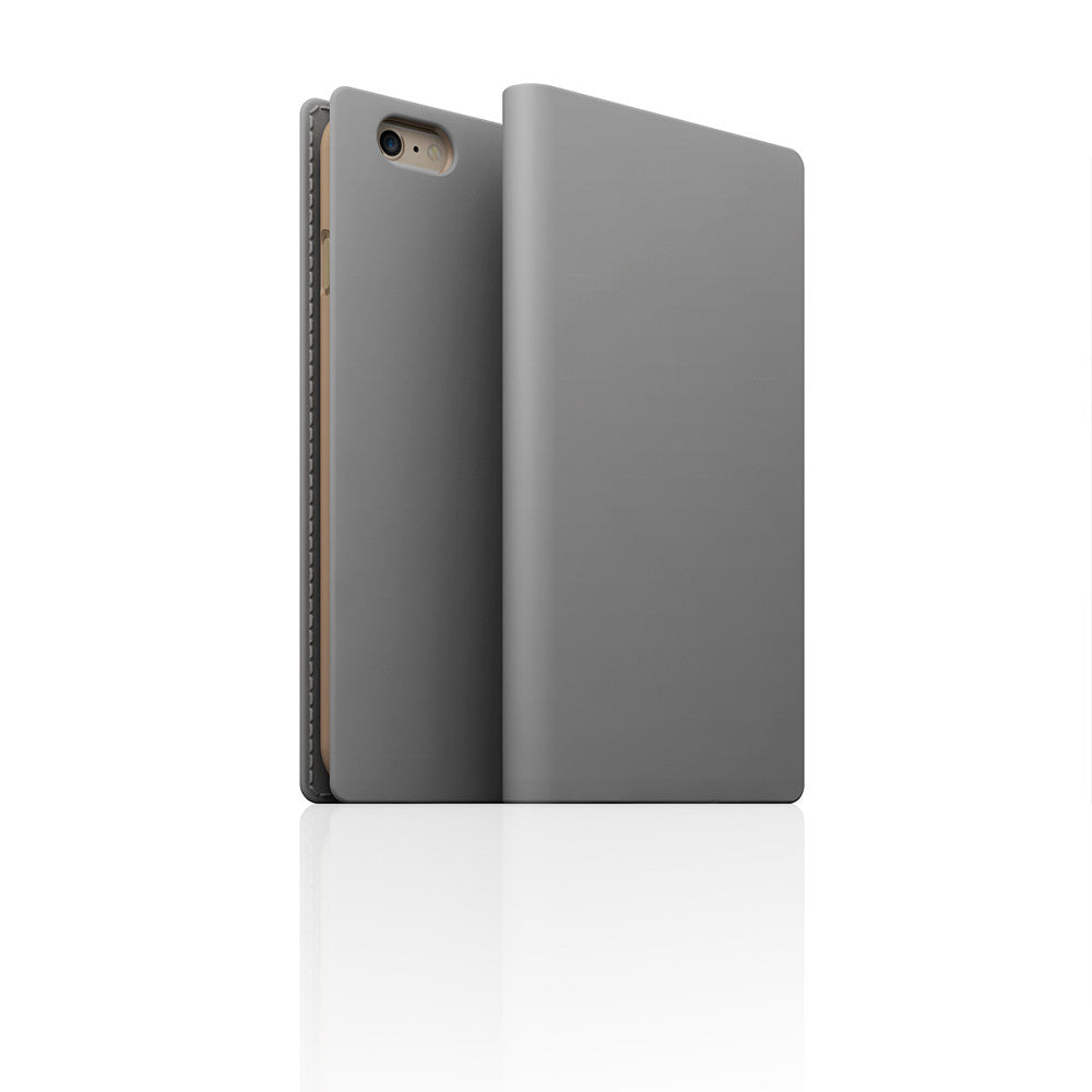 D5 Calf Skin Leather Case for iPhone 6 / 6s Plus Gray