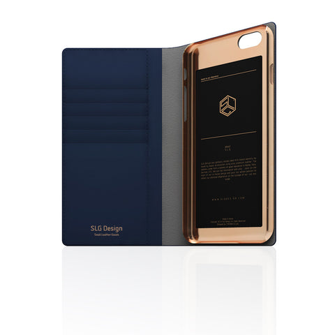 D5 Calf Skin Leather Case for iPhone 6/6s Plus Navy