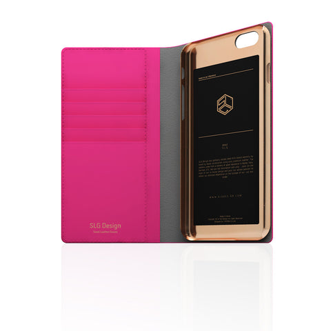 D5 Calf Skin Leather Case for iPhone 6/6s Plus Pink