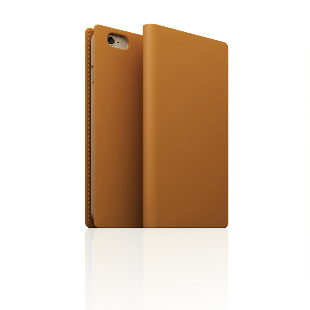 D5 Calf Skin Leather Case for iPhone 6 / 6s Plus Tan