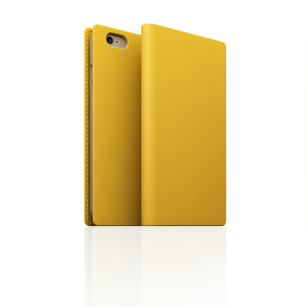 D5 Calf Skin Leather Case for iPhone 6/6s Plus Yellow