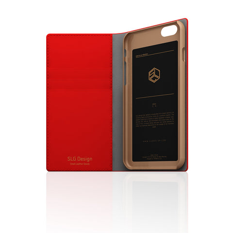 D5 Calf Skin Leather Case for iPhone 6 / 6s Red