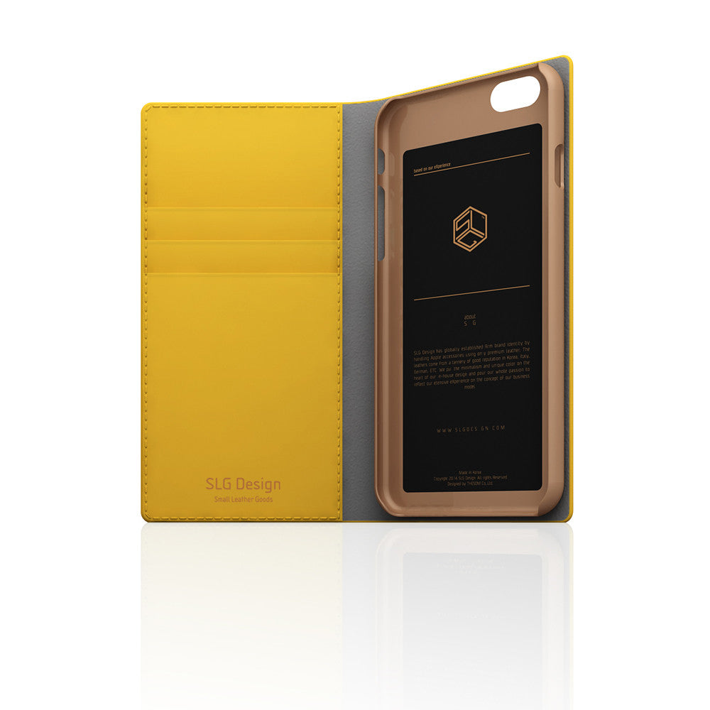 D5 Calf Skin Leather Case for iPhone 6/6s Yellow