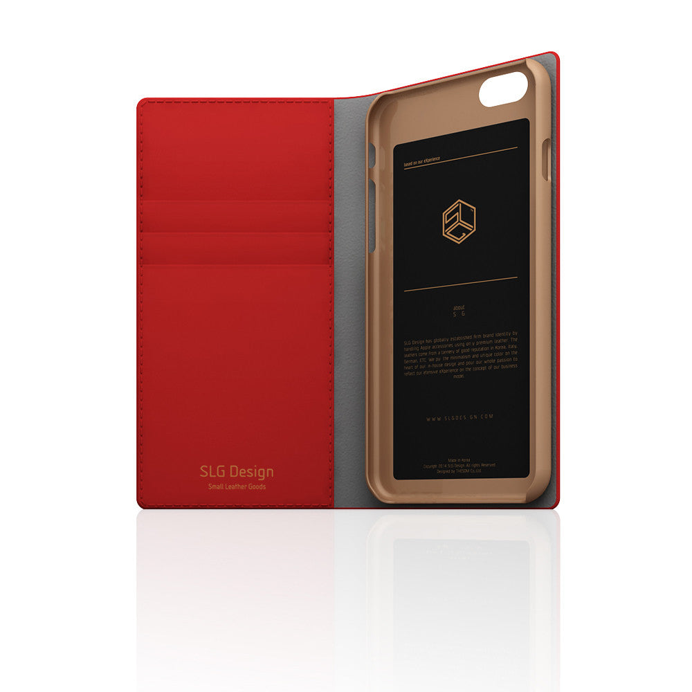 D5 CSL Saffiano Case for iPhone 6/6s Red