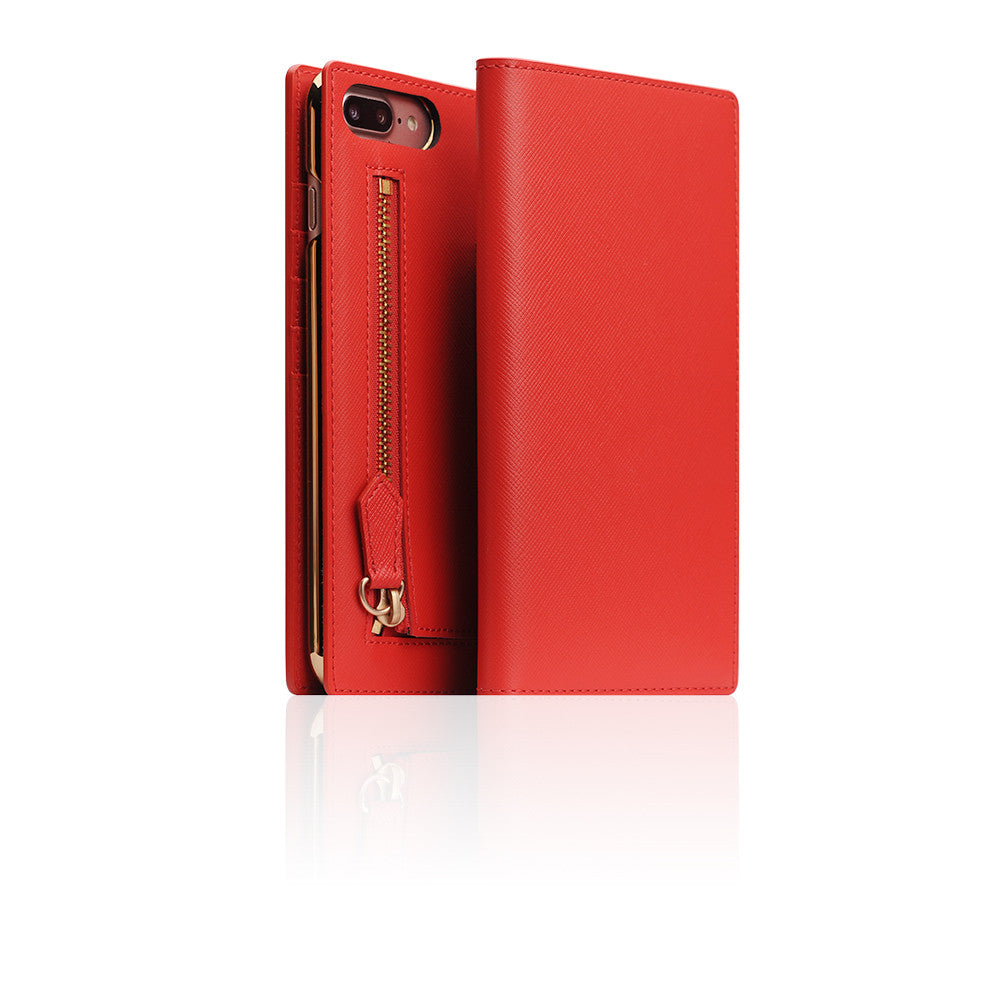 D5 CSL Zipper Case for iPhone 7 Plus Red
