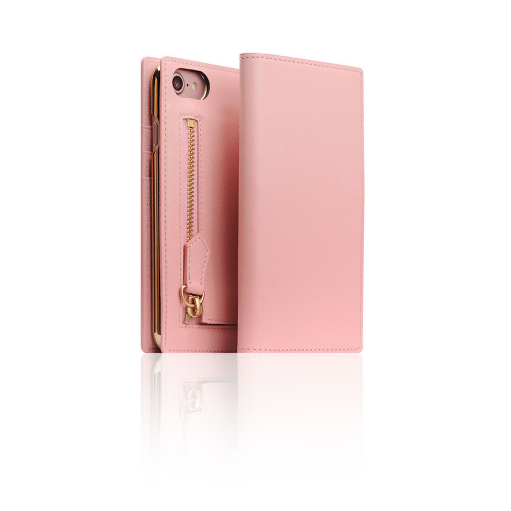 D5 CSL Zipper Case for iPhone 8 / 7 Baby Pink