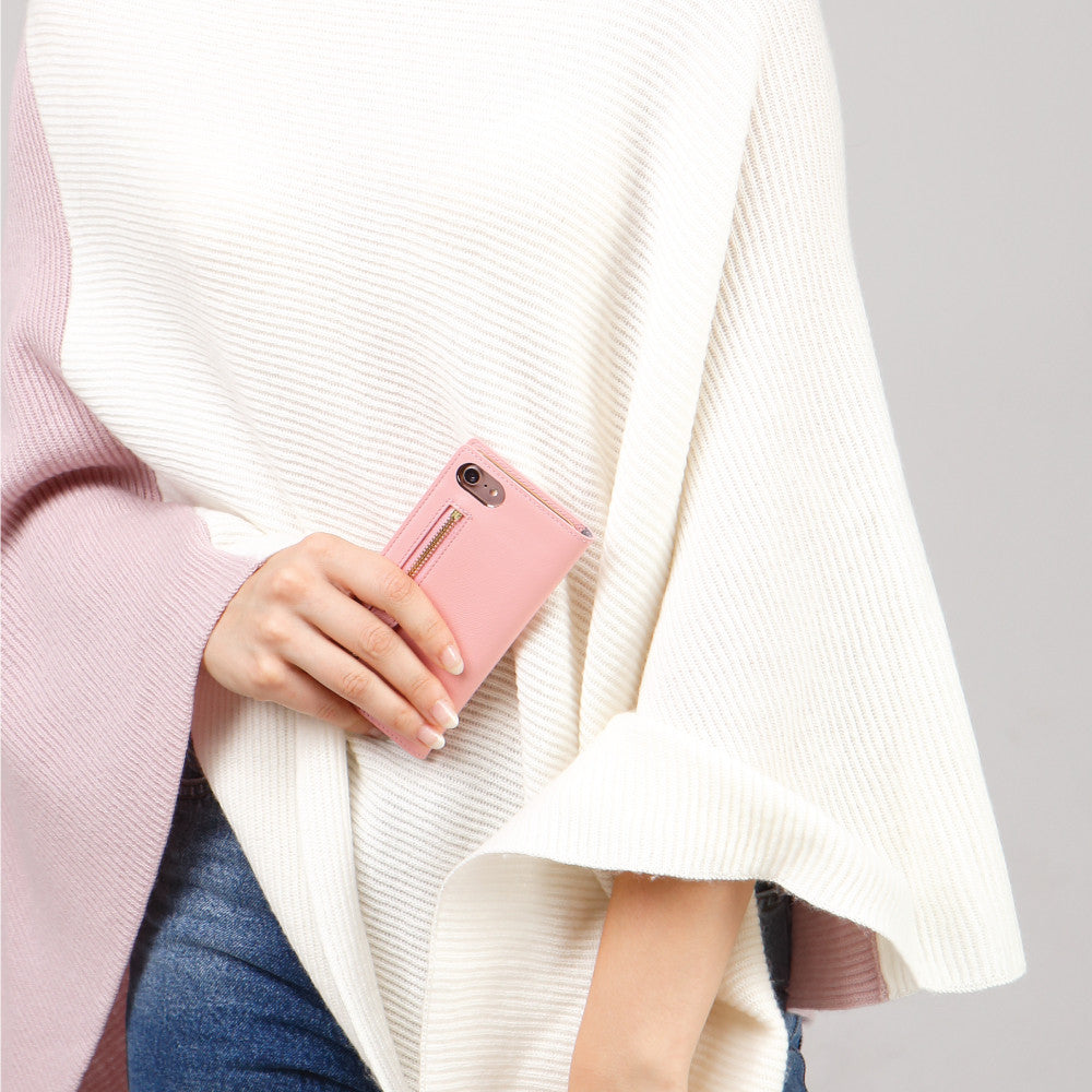 D5 CSL Zipper Case for iPhone 8 Plus / 7 Plus Pink