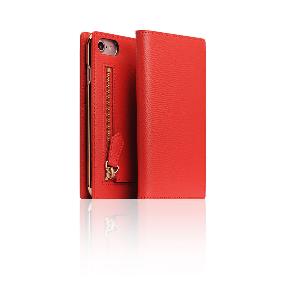 D5 CSL Zipper Case for iPhone 8 / 7 Red