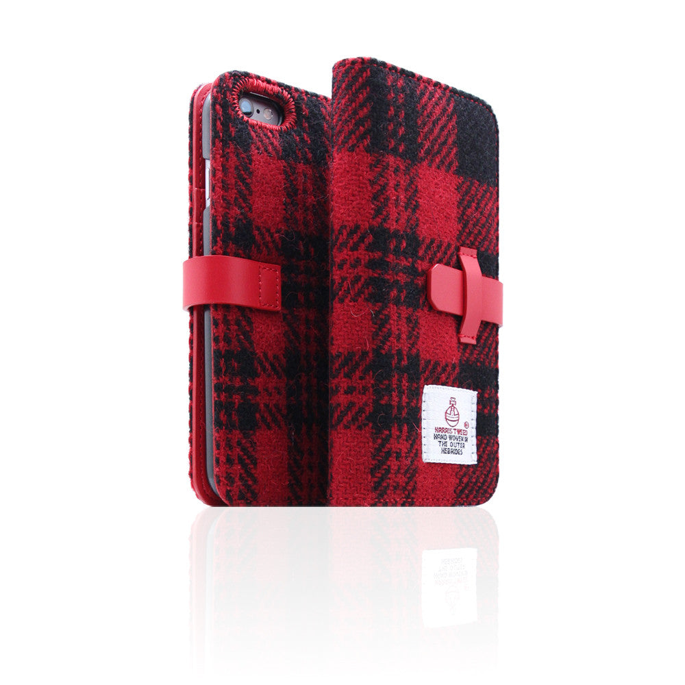 D5 Special Edition X Harris Tweed Case for iPhone 6/6s Plus B/Red