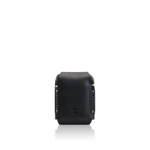 D6 Italian Minerva Box Leather AirPods Pouch Black