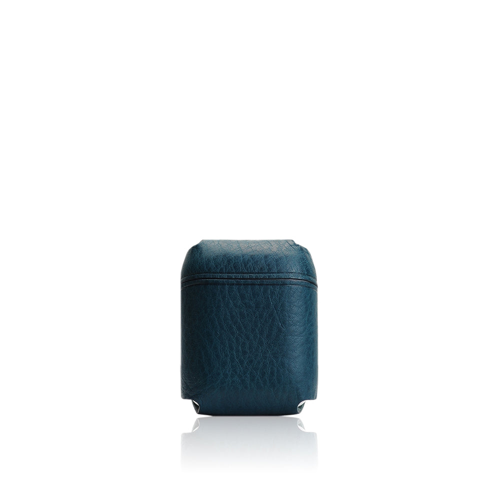 D6 Italian Minerva Box Leather AirPods Pouch Blue