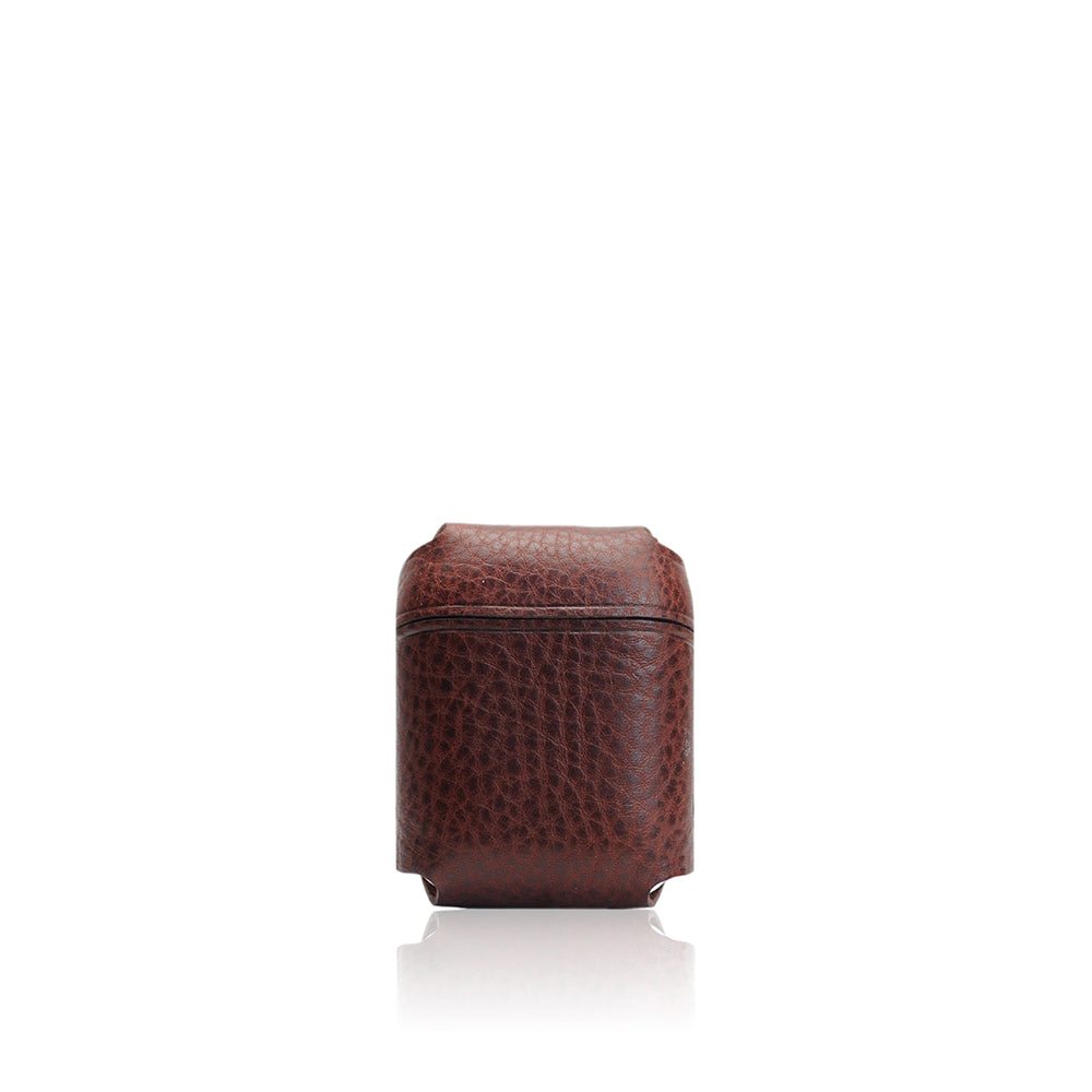 D6 Italian Minerva Box Leather AirPods Pouch Brown