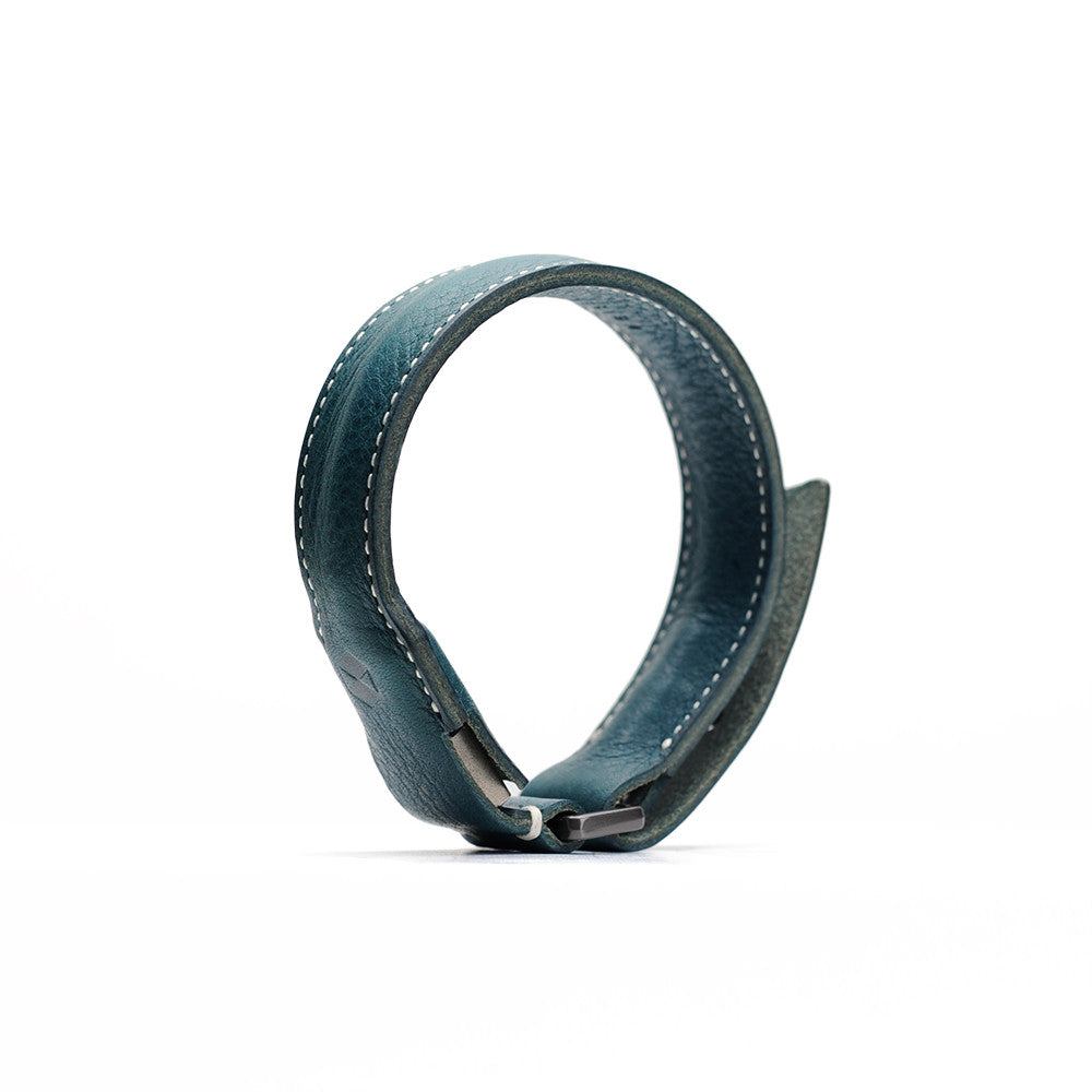 D6 Italian Minerva Box Leather Bracelet Cable Blue