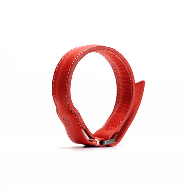 D6 Italian Minerva Box Leather Bracelet Cable  Red