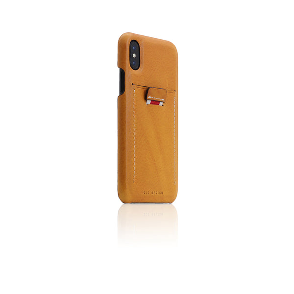 D6 Italian Minerva Box Leather Back Case for iPhone X Tan