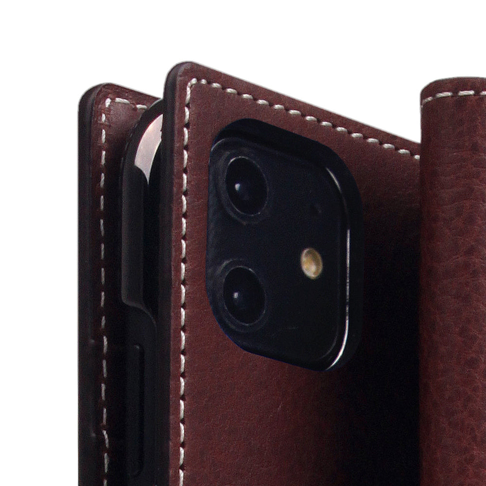 D6 Italian Minerva Box Leather Case for iPhone 11 Brown