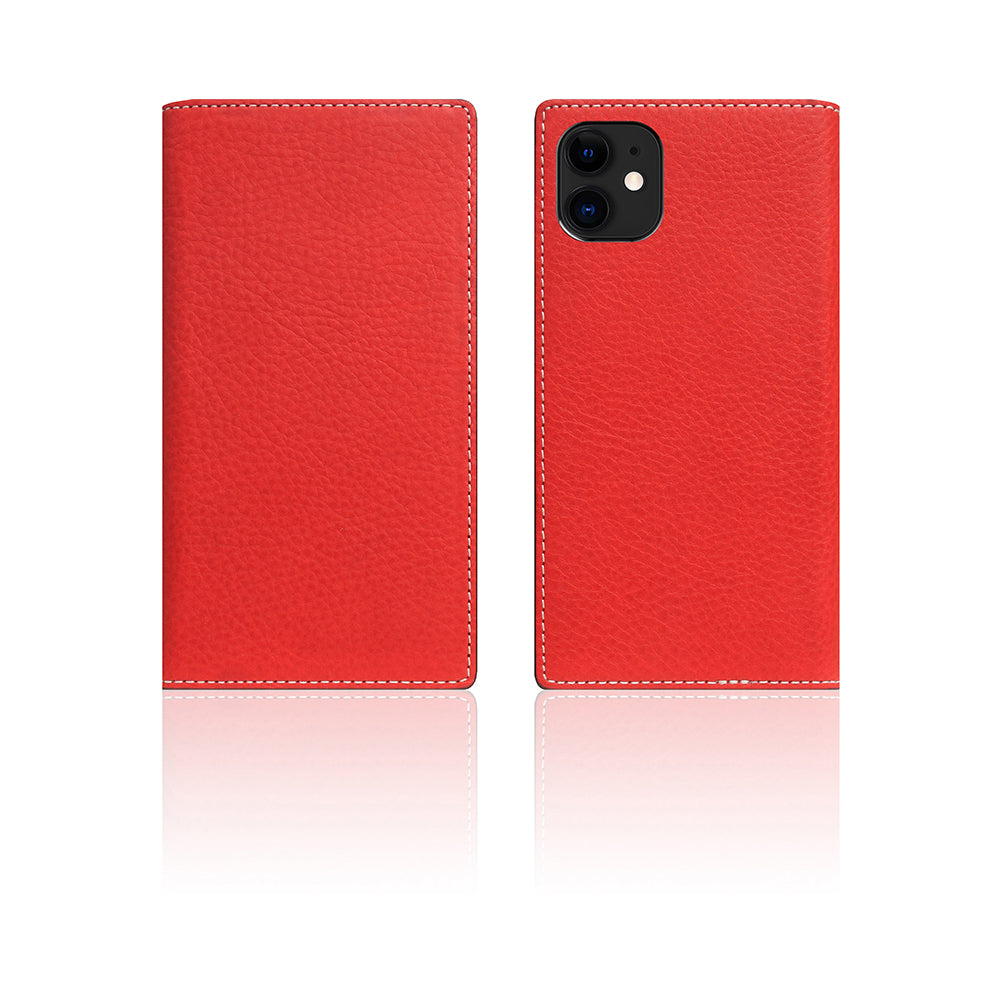 D6 Italian Minerva Box Leather Case for iPhone 11 Red