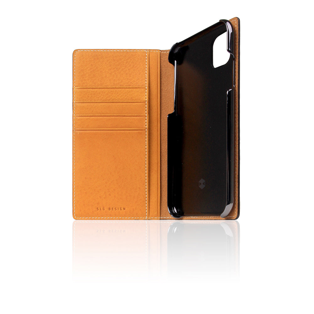 D6 Italian Minerva Box Leather Case for iPhone 11 Tan