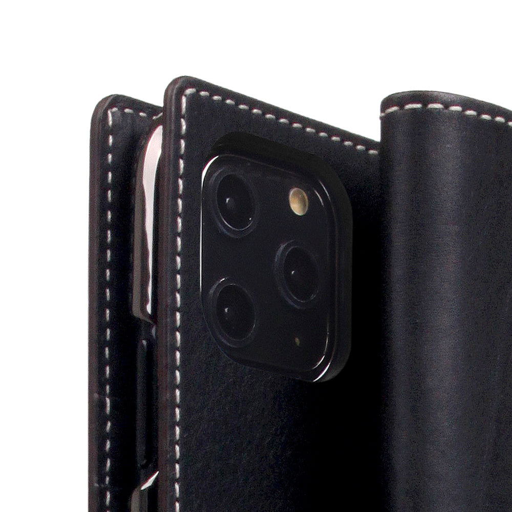 D6 Italian Minerva Box Leather Case for iPhone 11 Pro Black