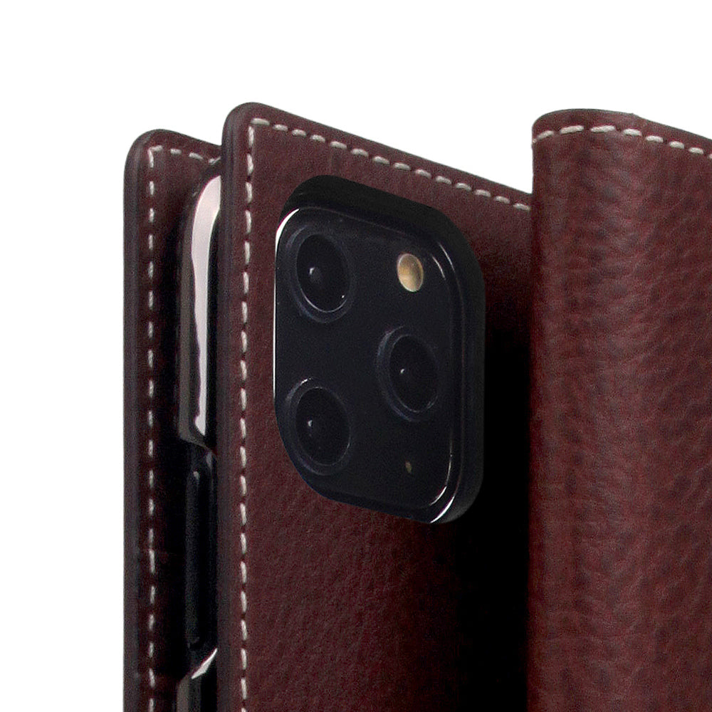 D6 Italian Minerva Box Leather Case for iPhone 11 Pro Brown