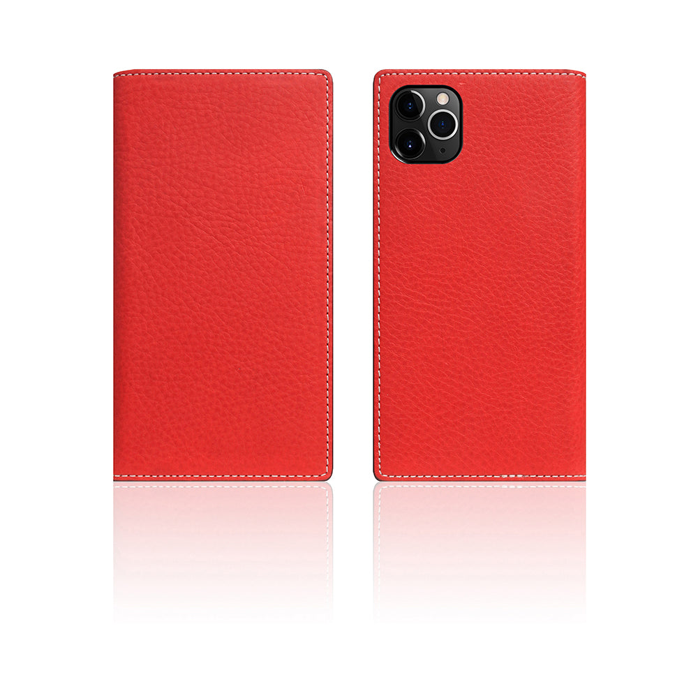 D6 Italian Minerva Box Leather Case for iPhone 11 Pro Red