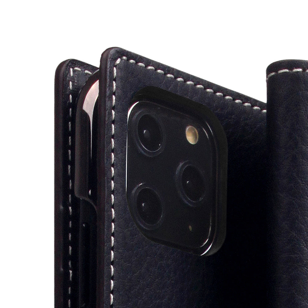 D6 Italian Minerva Box Leather Case for iPhone 11 Pro Max Black