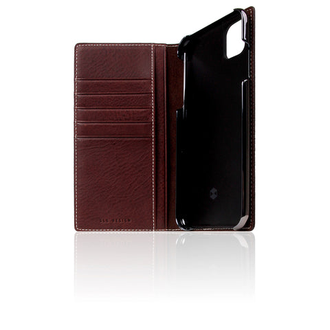 D6 Italian Minerva Box Leather Case for iPhone 11 Pro Max Brown