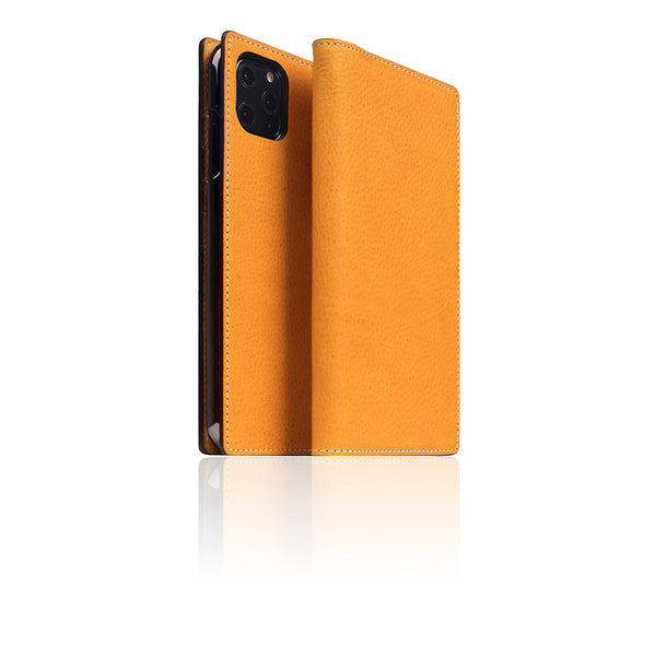 D6 Italian Minerva Box Leather Case for iPhone 11 Pro Max Tan