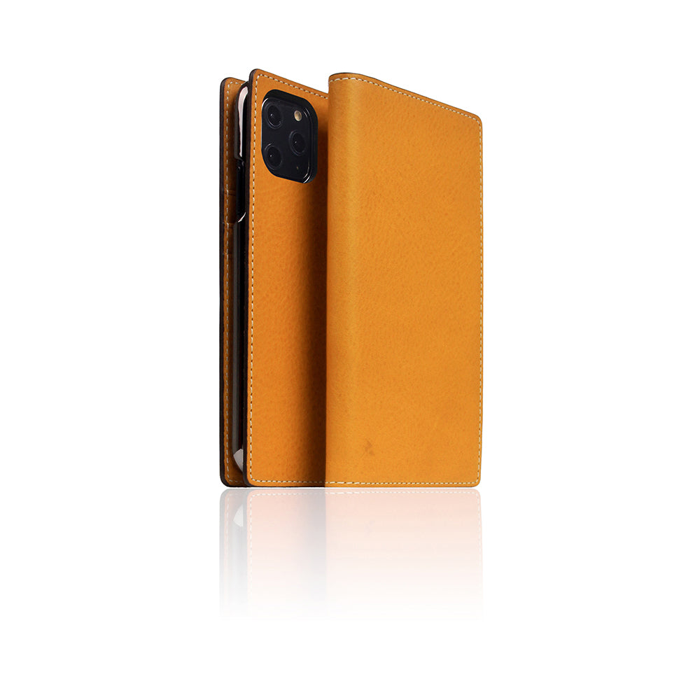 D6 Italian Minerva Box Leather Case for iPhone 11 Pro Tan