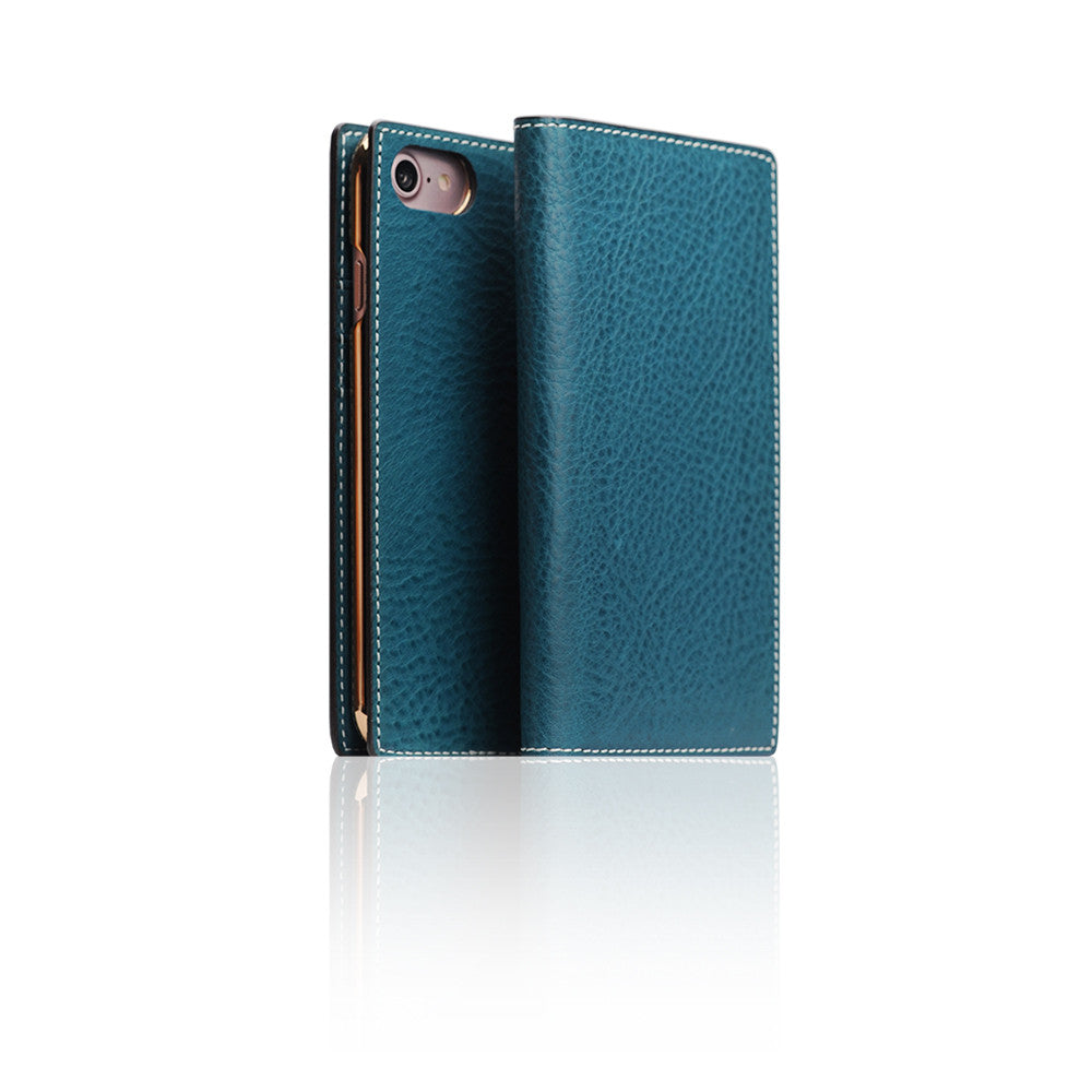 D6 Italian Minerva Box Leather Case for iPhone 8 / 7 Blue