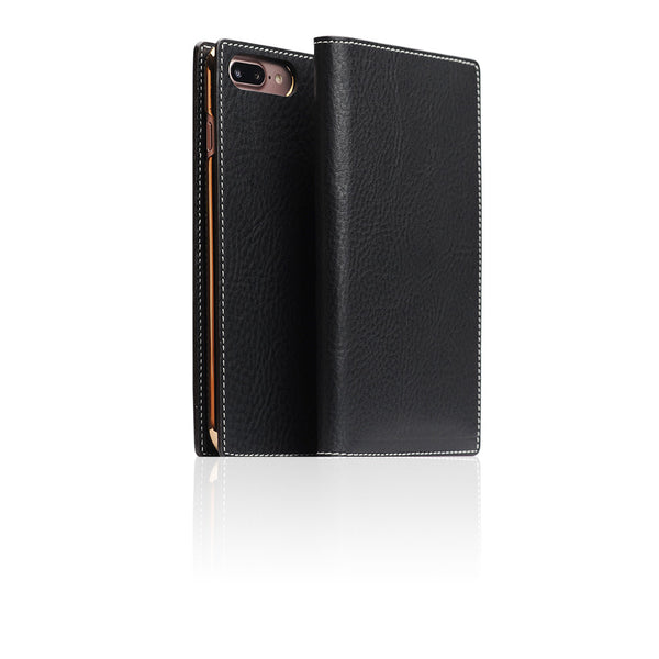 D6 Italian Minerva Box Leather Case for iPhone 8 Plus / 7 Plus Black
