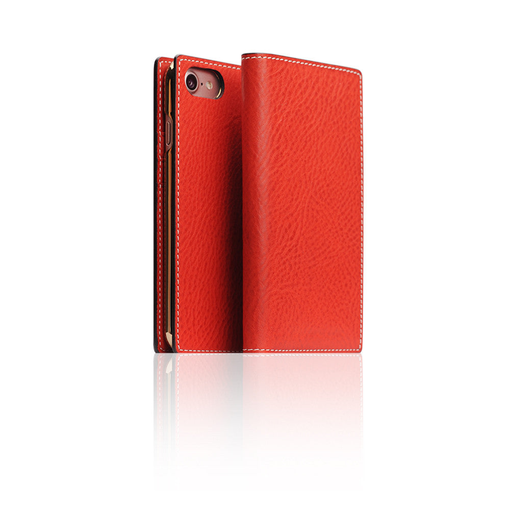 D6 Italian Minerva Box Leather Case for iPhone 8 / 7 Red