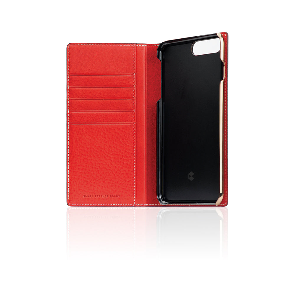 D6 Italian Minerva Box Leather Case for iPhone 8 Plus / 7 Plus Red