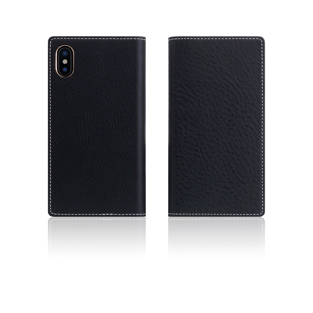 D6 Italian Minerva Box Leather Case for iPhone X / XS Black