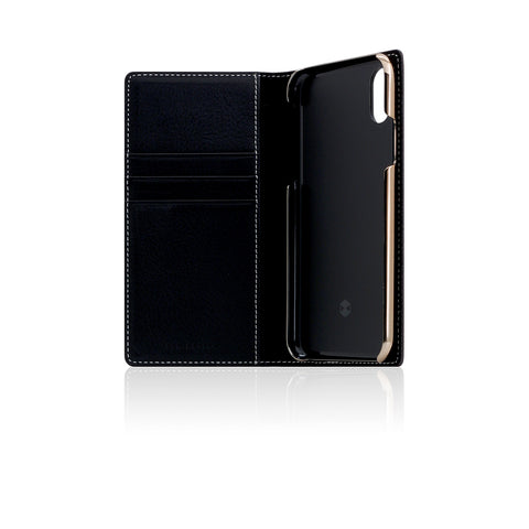 D6 Italian Minerva Box Leather Case for iPhone X Black