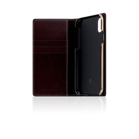 D6 Italian Minerva Box Leather Case for iPhone X Brown