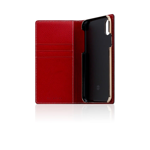 D6 Italian Minerva Box Leather Case for iPhone X Red
