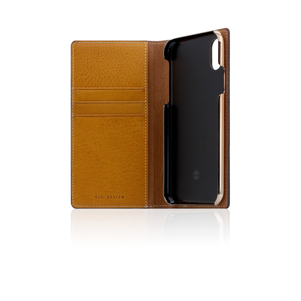 D6 Italian Minerva Box Leather Case for iPhone X Tan