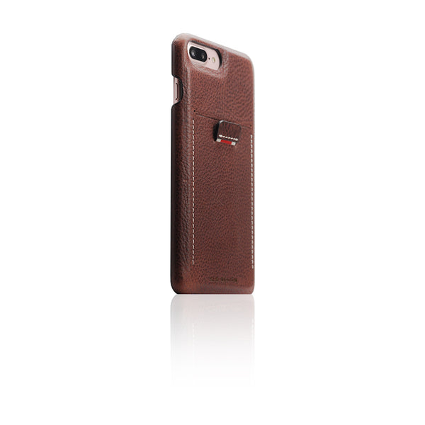 D6 Italian Minerva Box Leather Back Case for iPhone 8 Plus / 7 Plus Brown