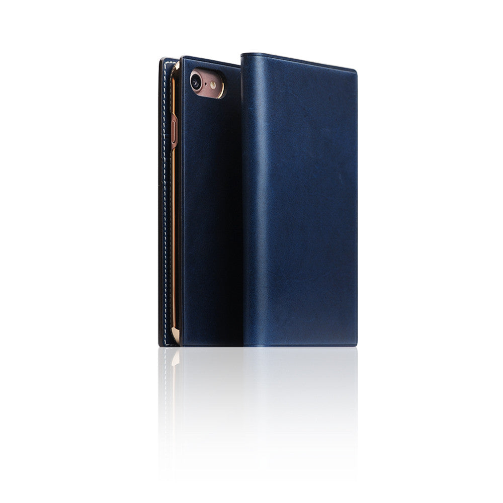 D7 Italian Buttero Leather Case for iPhone 8 / 7 Blue