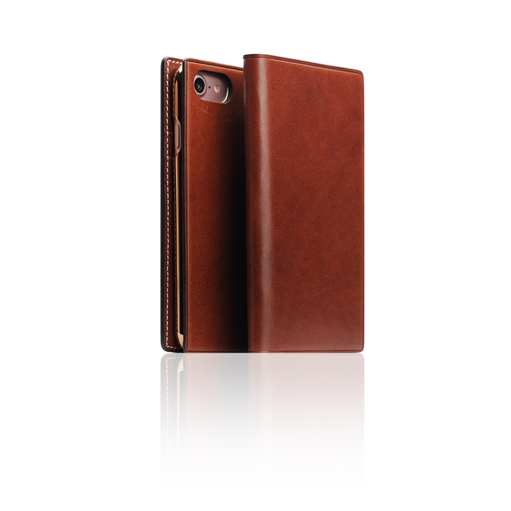 D7 Italian Buttero Leather Case for iPhone 8 / 7 Brown