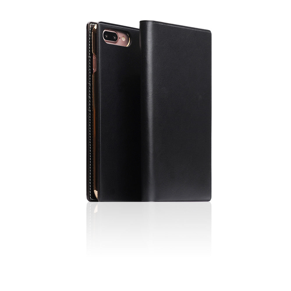 D7 Italian Buttero Leather Case for iPhone 8 Plus / 7 Plus Black