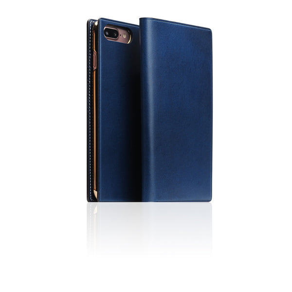 D7 Italian Buttero Leather Case for iPhone 8 Plus / 7 Plus Blue