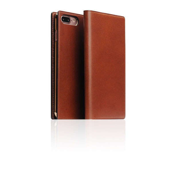 D7 Italian Buttero Leather Case for iPhone 8 Plus / 7 Plus Brown