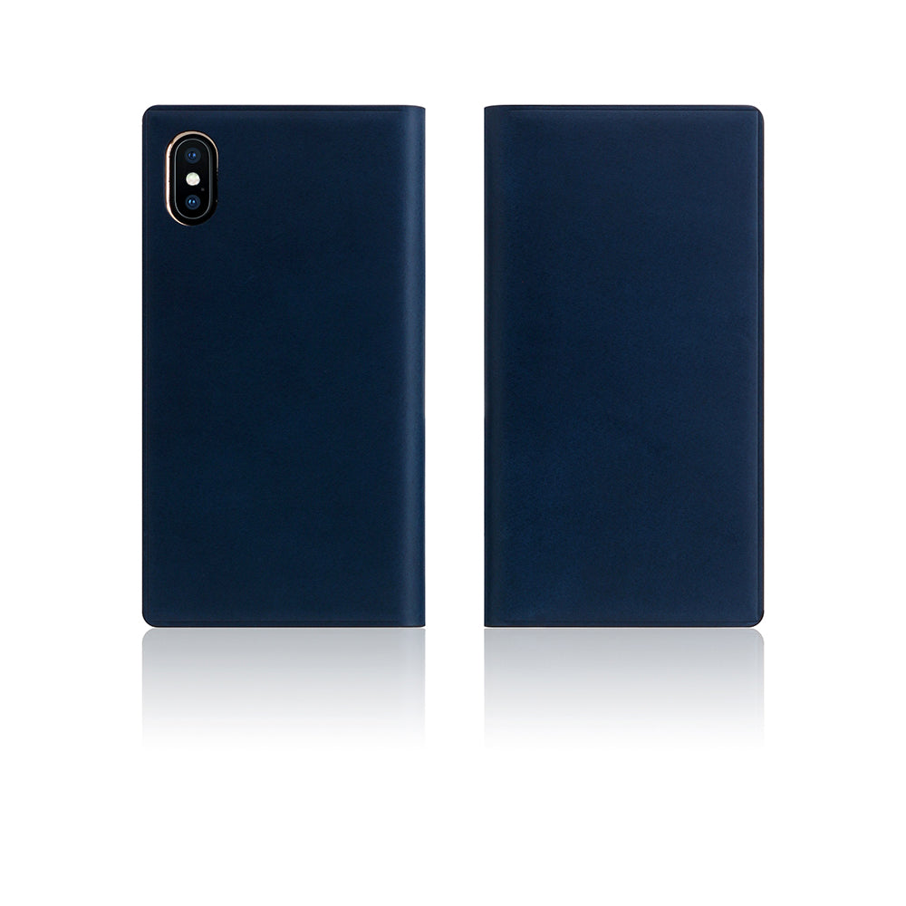 D7 Italian Buttero Leather Case for iPhone X / XS Blue
