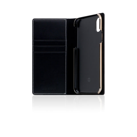 D7 Italian Buttero Leather Case for iPhone X Black