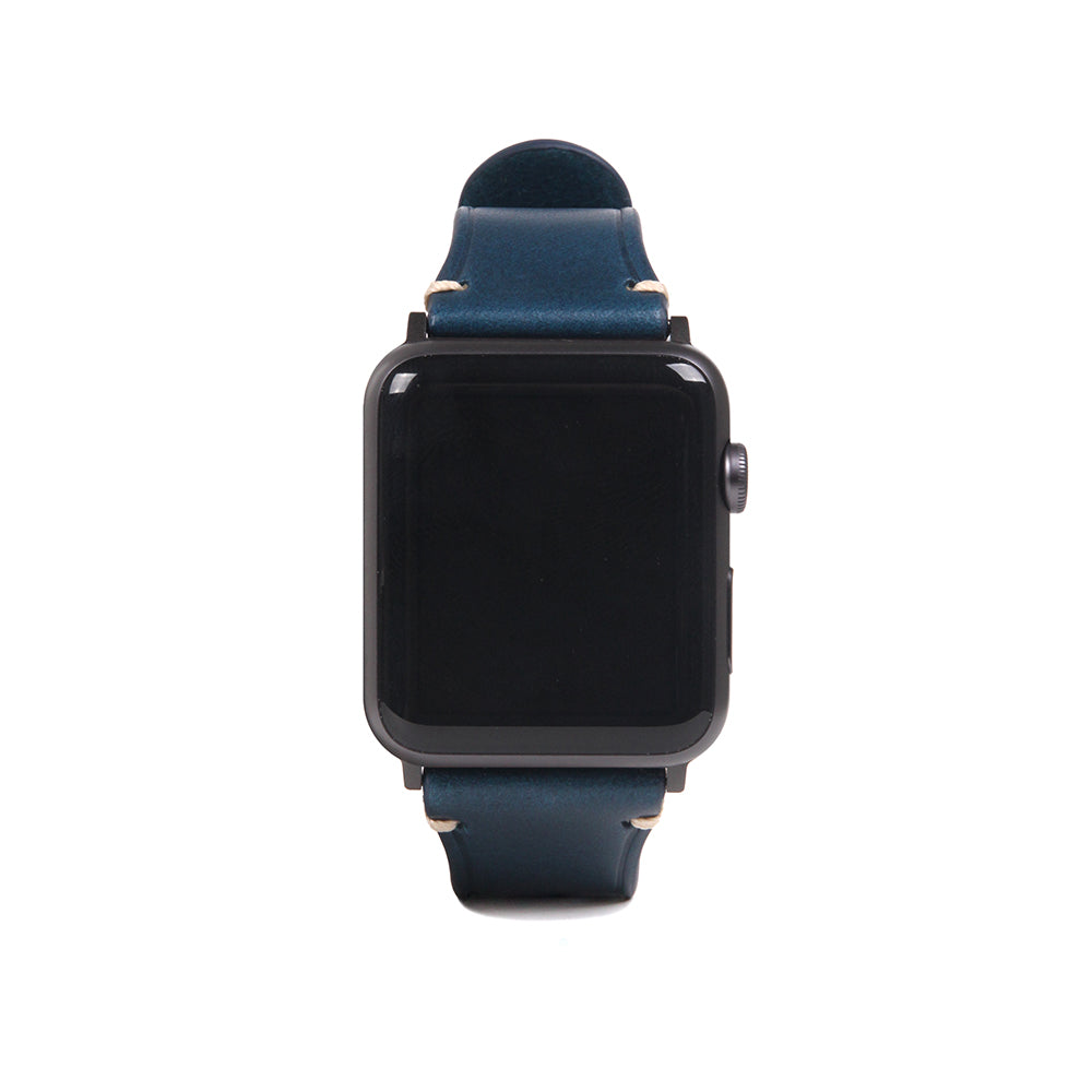 D7 Italian Buttero Leather Strap for Apple Watch 1to5 38/40mm Blue